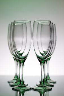Free Empty Champagne Glasses Royalty Free Stock Image - 17628376