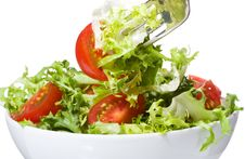 Free Salad With Vegetable Stock Images - 17628414