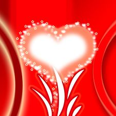 Free Red Abstract With A Heart Stock Photo - 17629020