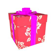 Free Red Gift Box Royalty Free Stock Images - 17629039
