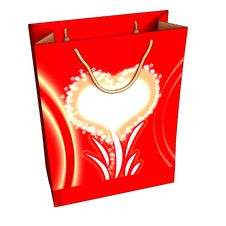 Free Red Gift Box With A Heart Royalty Free Stock Image - 17629046