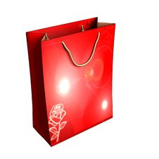 Free Red Gift Box With A Rose Royalty Free Stock Images - 17629049