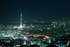 Free Night Scenes Of The Taipei City, Taiwan Royalty Free Stock Photo - 17629095