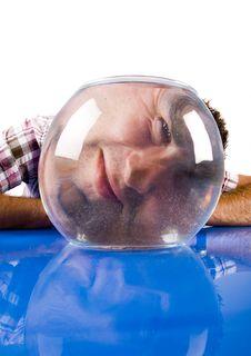Free Man And Aquarium Royalty Free Stock Image - 17629496