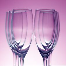 Free Empty Champagne Glasses Stock Photo - 17629630