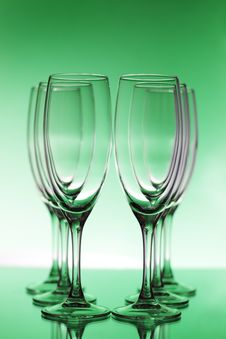 Free Empty Champagne Glasses Royalty Free Stock Image - 17629656