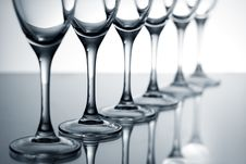 Free Empty Champagne Glasses Royalty Free Stock Images - 17629669