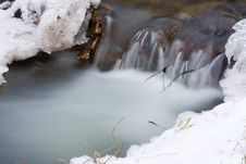 Free Frozen Creek Royalty Free Stock Images - 17629839