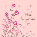 Free Valentine Background With Flower And Heart Stock Images - 17631884
