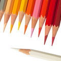 Free Hot Tone Color Pencil And White Color Pencil Stock Image - 17632271