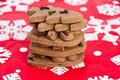 Free Stack Of Homemade Gingerbread On Christmas Paper Stock Images - 17632574