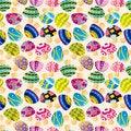 Free Seamless Mushroom Pattern Royalty Free Stock Photo - 17634865