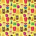 Free Seamless Birthday Pattern Stock Image - 17635031