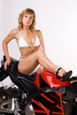 Free Sexy Girl On Motorbike Royalty Free Stock Images - 17636189