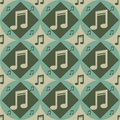 Free Cute Musical Pattern Royalty Free Stock Image - 17636606