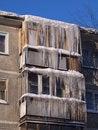 Free Icicles. The City Of Novouralsk, Sverdlovsk Area. Royalty Free Stock Photos - 17637568
