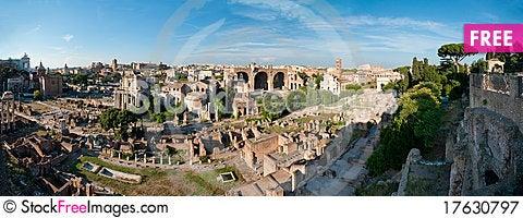 Roman forum panorama Stock Photo