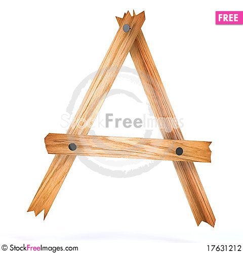 Wooden letter a Stock Photo