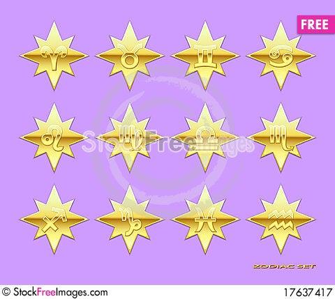 Zodiac icons. Stock Photo