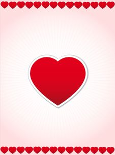 Valentine S Day Red Poster Royalty Free Stock Image