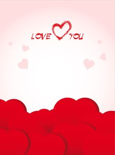 Valentine S Day Red Poster Royalty Free Stock Photos