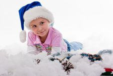 Free Beautiful Girl In Santa S Hat Royalty Free Stock Photos - 17631118