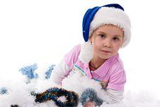 Beautiful Girl In Santa S Hat Stock Photo