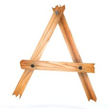 Free Wooden Letter A Stock Photography - 17631212