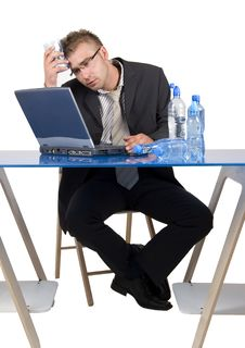Free Businessman At Work Stock Image - 17631531