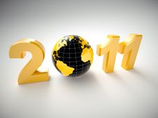 3d New Year 2011 Illustration Royalty Free Stock Photo