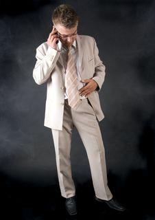 Free Businessman Smoking Cigar Royalty Free Stock Photos - 17631758
