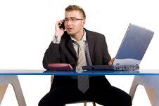 Free Businessman At Work Stock Image - 17631801