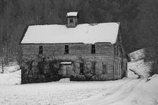 Free Shell Creek School (bw) Stock Photo - 17631810