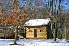 Free Log Cabin At Sycamore Shoals Stock Image - 17631861