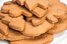 Free Closeup On Homemade Gingerbread Cookies Stock Photo - 17632580