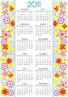 Free Calendar 2011 Stock Images - 17632624