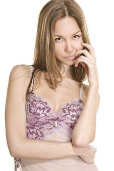 Attractive Girl Model In Sexy Underwear Stock Photo