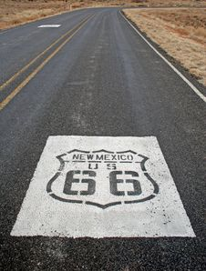 Free Route 66 Road Marking Stock Photo - 17633380