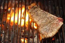 Free Steaks On The Grill Stock Image - 17633381