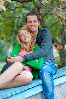 Free Beautiful Young Couple Relaxing Stock Photos - 17634093