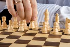 Free Hand Moving Chess Piece Stock Image - 17634501