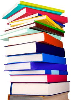 Free Pile Of Books Isolated On White Stock Photography - 17634592