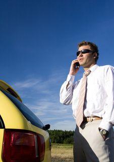 Free Businessman Talking On Mobile Phone Stock Photos - 17634783