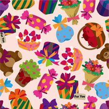 Free Seamless Gift Pattern Royalty Free Stock Image - 17634816