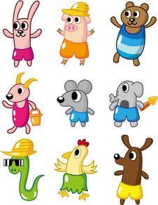 Cartoon Summer Animal Icon Stock Photo