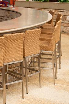 Outdoor Round Table Bar Stock Photos
