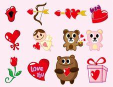 Free Cartoon Valentine S Day Stock Photos - 17635583