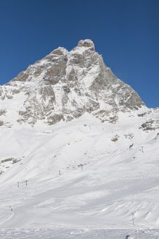 Free Matterhorn Ski Area Royalty Free Stock Photography - 17635647