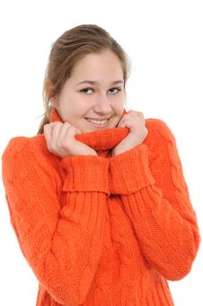 Free Winter Young Woman Stock Photos - 17635863