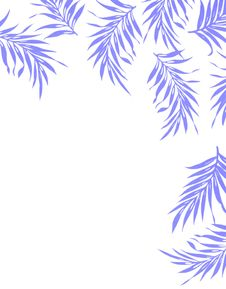 Free Abstract Blue Plants. Stock Photos - 17635913